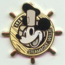 Disney  Steamboat Willie  Mickey dated 1928 Pin/Pins