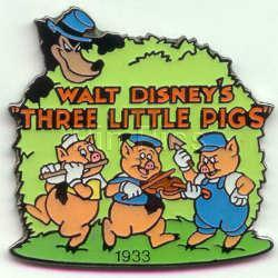 Disney Three Little Pigs dated 1933 rare pin/pins