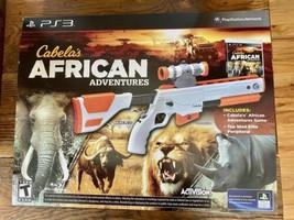 PS3 Cabela's African Adventures Game w/Top Shot Elite Rifle Gun Bundle Set - $14.80