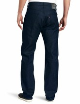 Levi's Men's 501 Shrink To Fit Straight Leg Jeans Button Fly Cobalt 501-1662 image 2