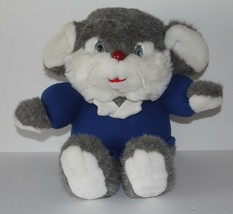 "Grey White Blue Mouse 13"" Plush Stuffed Animal Toy Commonwealth 1992 Vin... - $9.90"