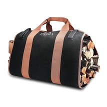 Firewood Carry Bag Heavy Duty Durable Wood Log Carrier Foldable Canvas T... - $35.49
