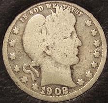 1902 Barber Silver Quarter G4 #0236 - $7.19