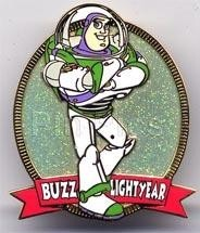 Disney Toy Story Buzz Lightyear Glitter UK Pin/Pins