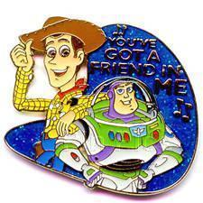 Disney Toy Story Buzz Lightyear & Woody Musical Pin/Pins