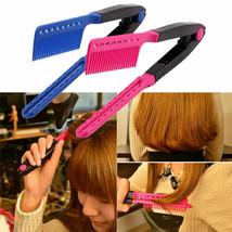 V TYPE Straightening Hair Comb Brush Flat Dryer Styling Tool Hairdressing DIY  - $10.95