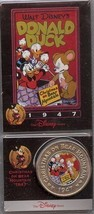 Disney Uncle Scrooge Donald Duck dated 1947 Coin - $47.77