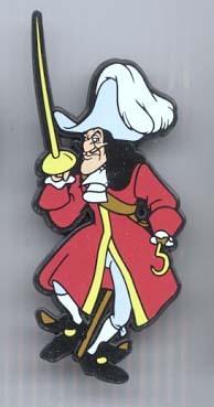 Disney Villain Captain Hook  Peter Pan UK Plastic Pin/Pins