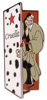 Disney  Villain Cruella de Vil  door Auction Pin/Pins
