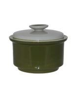 Vintage Mikasa EpiQure-One Avocado Green Sugar Bowl Butter Dish  - $30.84