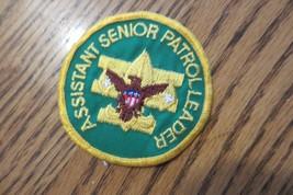 bsa assistant senior patrol leader boy scouts of america original  patch, NR - $14.25