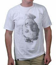 KR3W Skateboarding Men's White Dixon/Lizard Flip Short-Sleeve T-Shirts NWT image 3