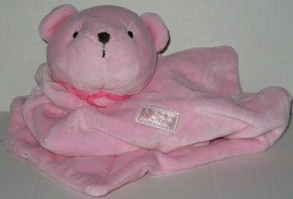 Carters Precious Firsts Pink Brown Teddy Bear Lovey Rattle Bow Blankie S... - $14.39