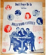 Don't Fence Me In by Cole Porter Show Tune 1944 Sheet Music - $2.50