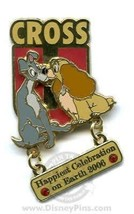 Disney Cast Member Lady & the Tramp Happiest Celebration on Earth Dangle pin - $16.65