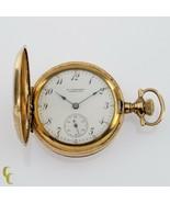Gold Filled Women's Elgin Full Hunter Pocket Watch 7 Jewel Size 0S 1908 - $199.44