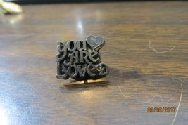 YOU ARE LOVED WITH A HEART SYMBLE collectibe souvenir  pin - $14.25
