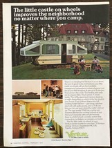 1974 Venture Trailer Camper Print Ad The Little Castle on Wheels - $10.84