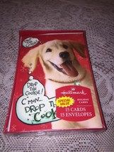 Hallmark Boxed Christmas Cards puppy cookie 15 Holiday Cards NEW - $6.43