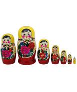 """7 Authentic Russian Semenov Nesting dolls Matryoshka, babushka, 6"""" - $34.90"""