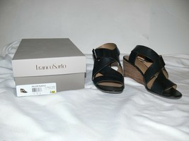 Franco Sarto Women's Mallory Black Wedge Sandals 8M am  - $35.00
