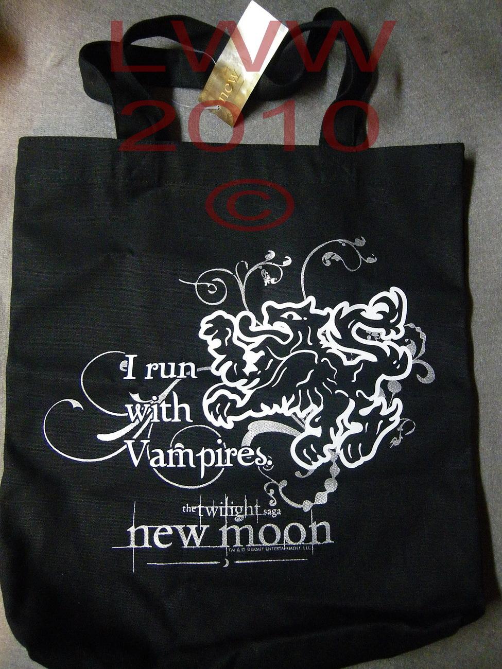 I Run with Vampires Cullen Twilight New Moon Canvas Tote Bag Bonanza