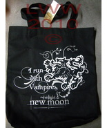 I Run with Vampires Cullen Twilight New Moon Canvas Tote Bag - $8.49