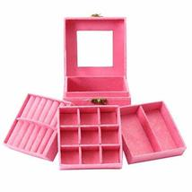 George Jimmy Three Tiers Jewelry Box Ring Earrings Bracelet Necklace Holder Disp - $21.22