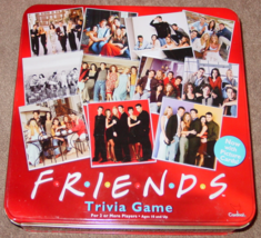 FRIENDS TRIVIA GAME RED TIN 2003 CARDINAL COMPLETE EXCELLENT CONDITION - $40.00