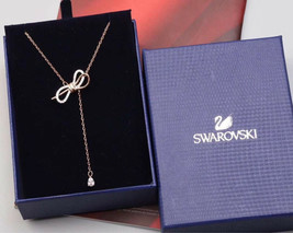 Swarovski crystal LIFELONG BOW bowknot pendant Necklace jewelry gift image 1