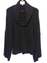Calvin Klein Jeans Womens Sweater Wool Pullover Blouse Black Size Medium  - $18.99