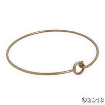 Antique Goldtone Loop Bangle Bracelets - $9.99