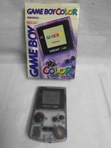 Nintendo Game Boy Color Model CGB 001 Clear Purple w/ Box - $74.24