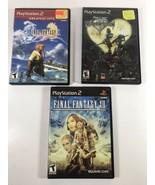 Final Fantasy Kingdom Hearts Sony Ps2 Game Lot Of 3 U1 - $24.75
