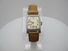 Vintage Trojan American Standard 6 Jewel Swiss Hand Wind Analog Dial Wat... - $108.90