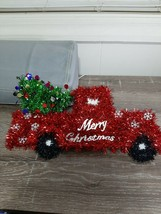 (1) Christmas Hanging Decor Farm Truck w/tree 14'' long 8'' tall Red Green. - $11.71