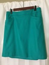 Ann Taylor Skirt Women's Wool Blend A-line Mini Skirt Size 8 Turquoise - $19.75