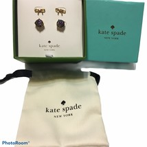 NWT Kate Spade Glitter and Bow Stud Earring Box Set with dust bag - $56.10