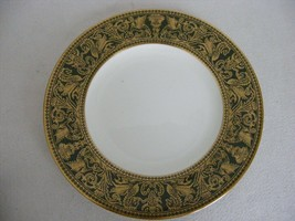 "Wedgwood Florentine Dark Green Dragons Gold Trim 8"" Salad Plate - $34.95"