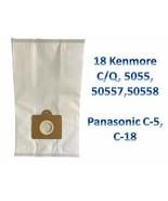 18 Kenmore Canister Vacuum Cloth Type Bags 5055 50557 50558 C Q Allergen - $26.68