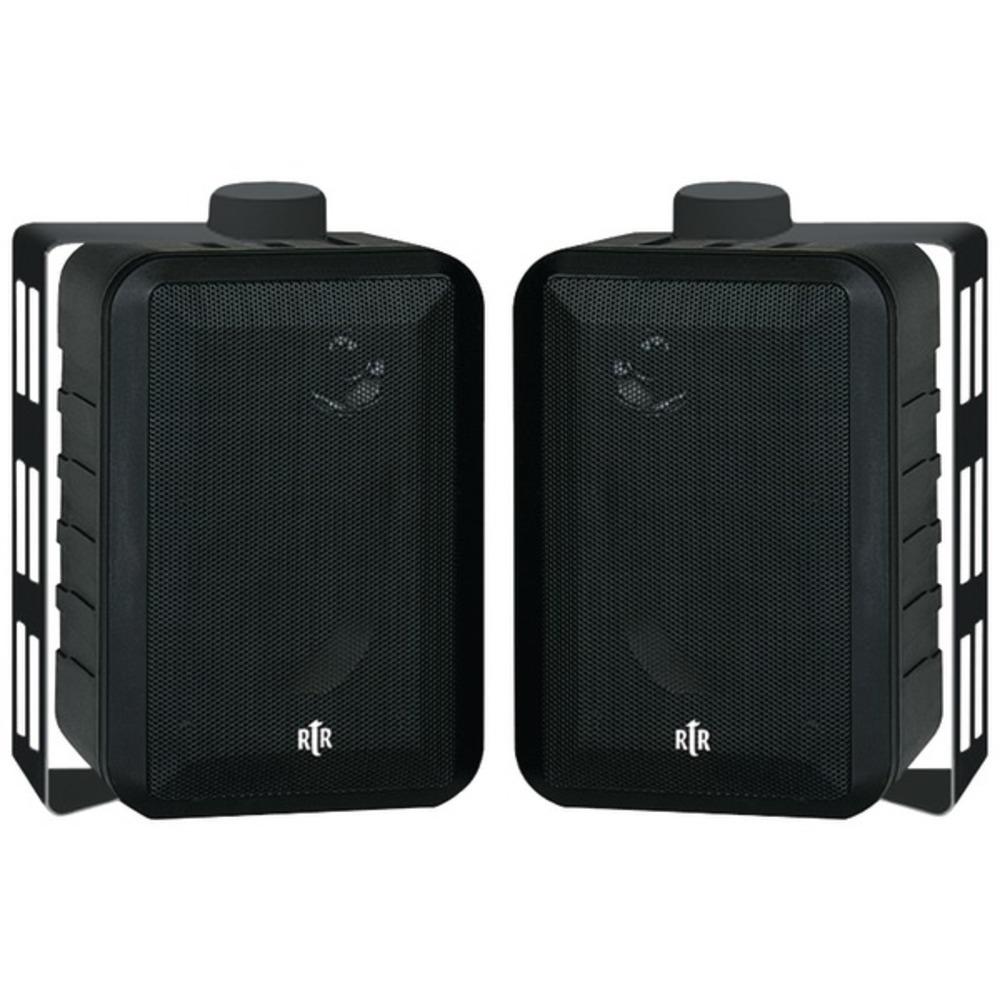 BIC America RTRV44-2 100-Watt 3-Way 4-Inch RtR Series Indoor/Outdoor Speakers (B