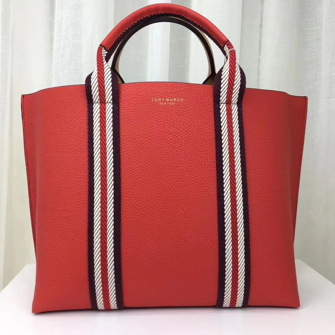 Tory Burch Perry Multi Stripe Triple Compartment Tote