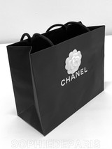 "Chanel Medium Size Black Gift Storage Shopping Camellia Tote Bag 11.5""x ... - $18.65"