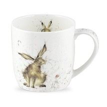 Royal Worcester Wrendale Designs Mug - Good Hare Day, 11 oz - $10.29