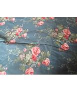 Vintage Croscill Shabby Roses Lined Drapes Paris Apt Chic 2 Blue Curtain... - $30.00