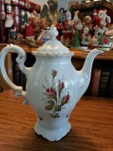Johann Havilland Floral Splendor Bavaria Germany Coffee Pot Teapot - $44.99