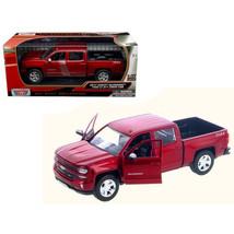 2017 Chevrolet Silverado 1500 LT Z71 Crew Cab Metallic Red 1/27 Diecast ... - $32.40