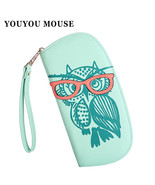 Women's Wallet Owl Glasses Hit Color Printing Card Id Holders - $25.99