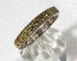 AVON STERLING SILVER 925 PERIDOT BAND RING SIZE 7.5 image 3