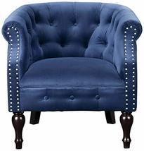 Uttermost 23257 Aviana Velvet Armchair, Blue - $884.40